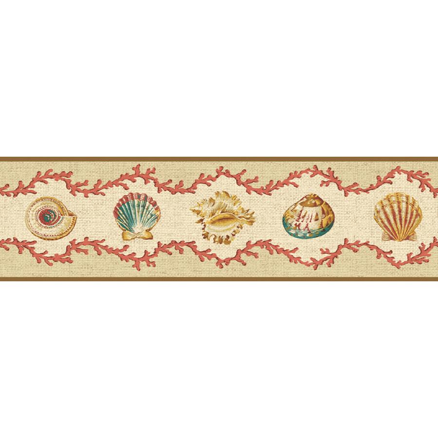 Shop Waverly 6 78 Shell Walks Unpasted Wallpaper Border at Lowescom 900x900