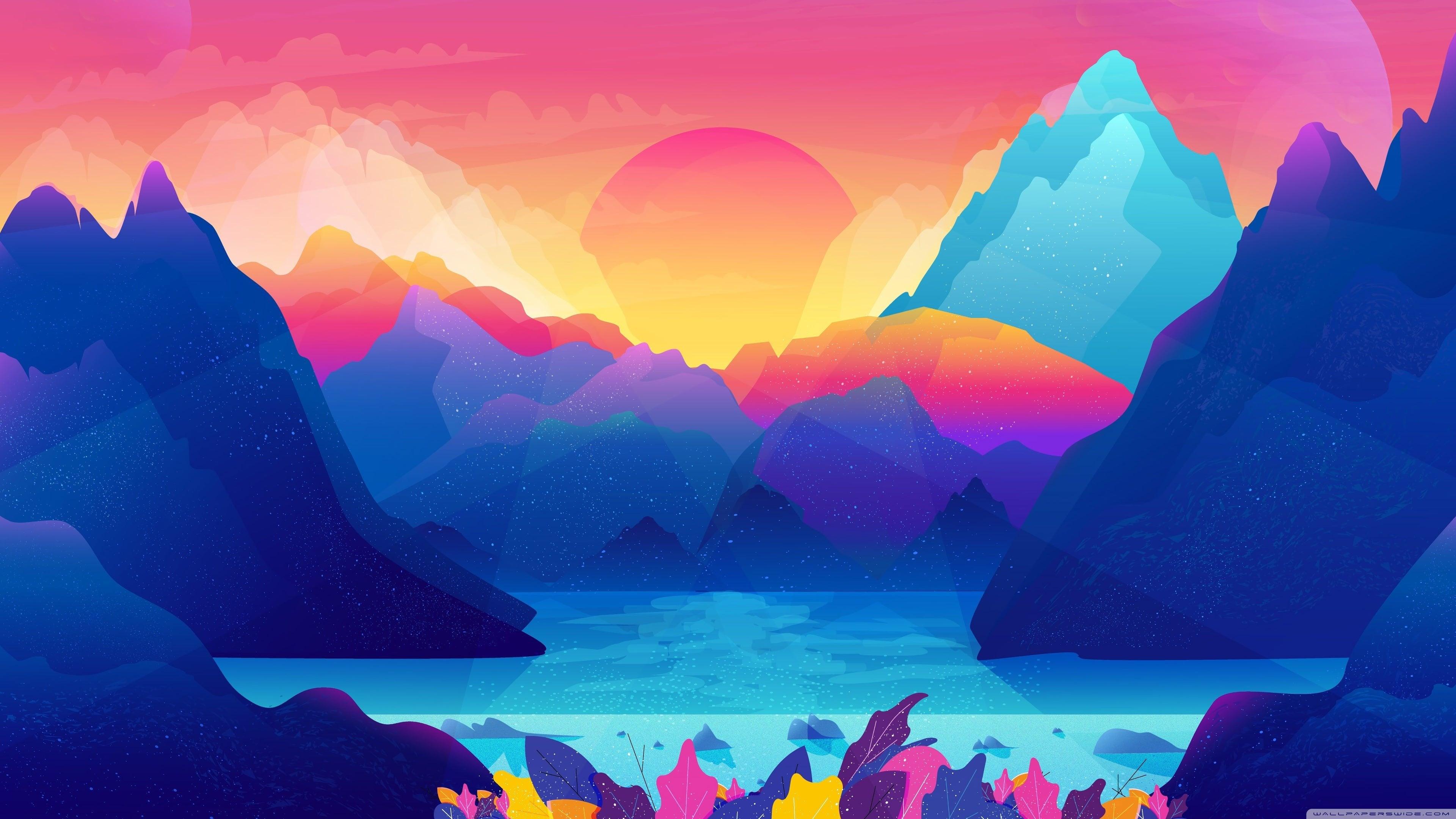 Free Download Animated Colorful Landscape 4k Wallpaper 3840x2160 For Your Desktop Mobile Tablet Explore 29 Animated Wallpaper Animated Underwater Wallpaper Animated Techno Wallpaper Animated Angel Wallpaper
