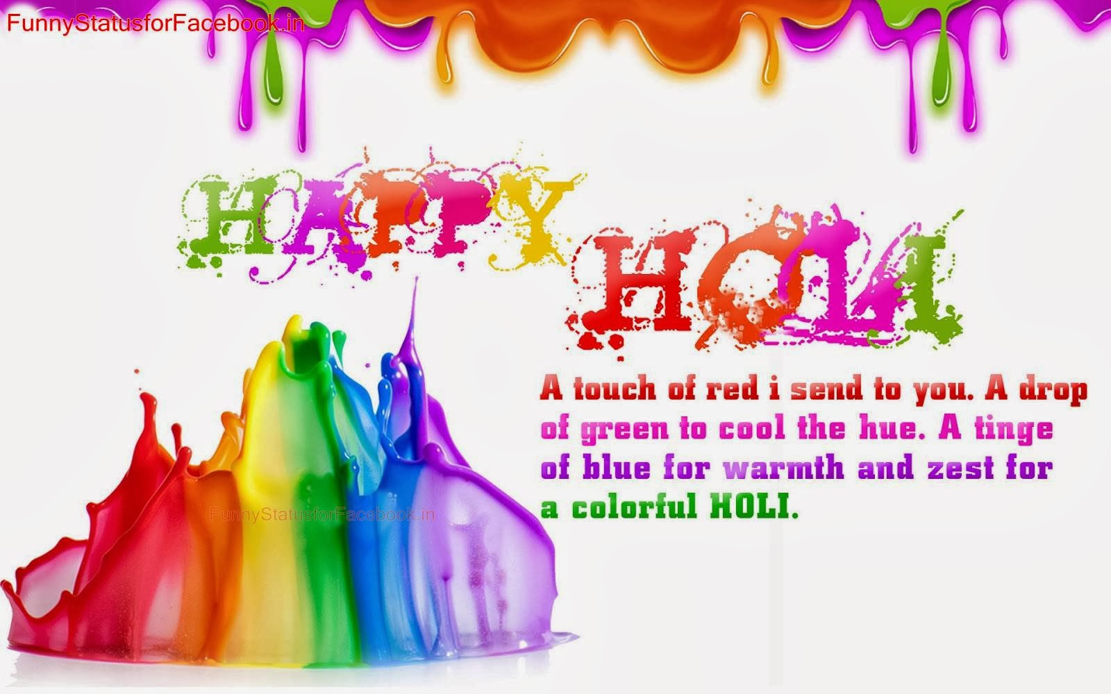 Happy Holi Wallpaper with Quote Holi Animated Wishes Shayari 1600x1000