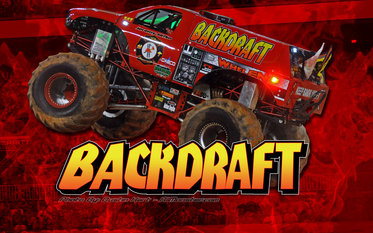 Backdraft Monster Truck Wallpaper 1280x800