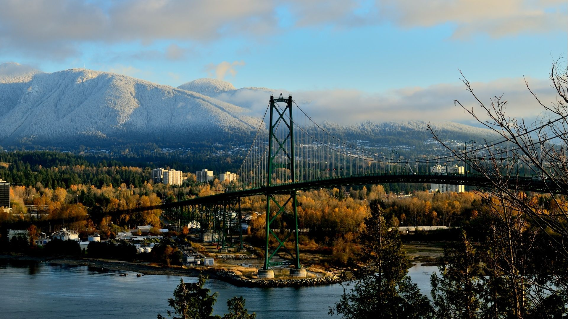 City Northshore With Lions Gate Bridge desktop wallpaper nr 6 1920x1080