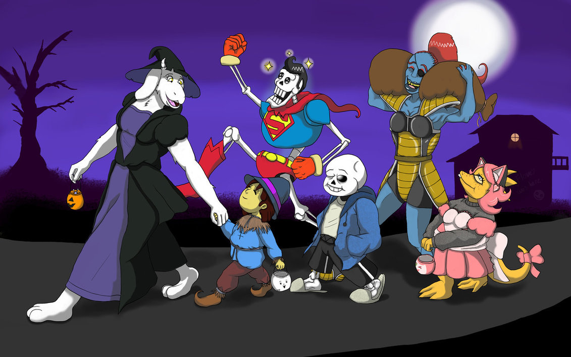 Undertale Halloween Trick or Treating by Trelock 1131x707
