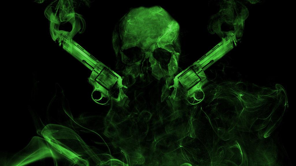 Green Skull Wallpaper - WallpaperSafari