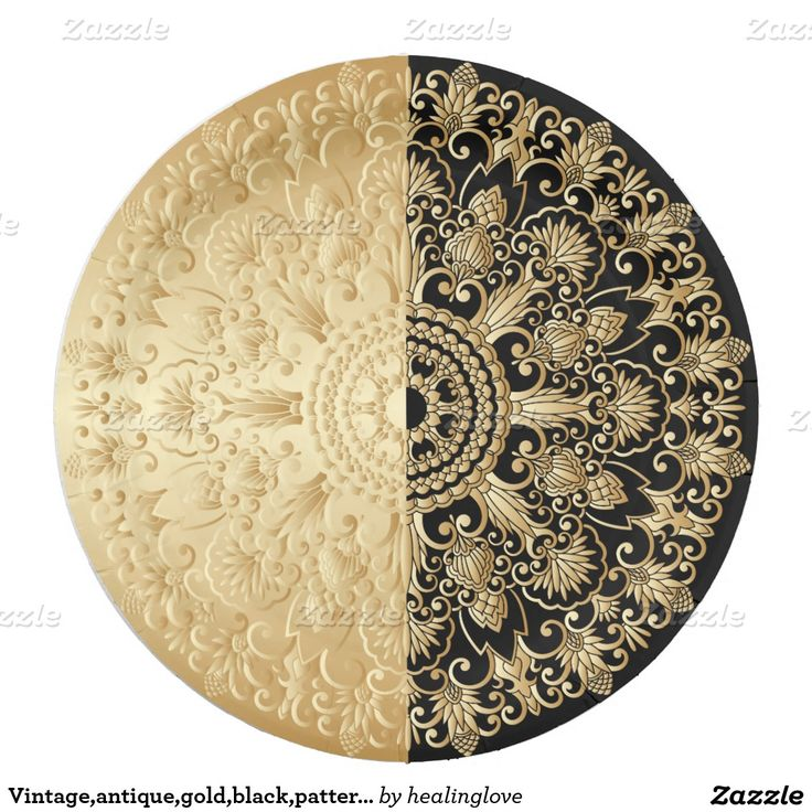 Art Nouveau Style Beautiful Paper Black Pattern Antique Gold 736x736