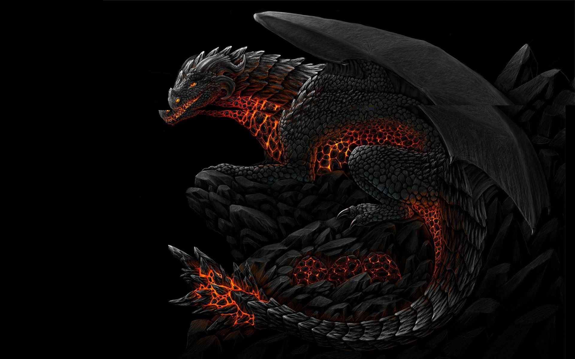 Free Download Dark Dragon Wallpaper Widescreen 1920x1200 For