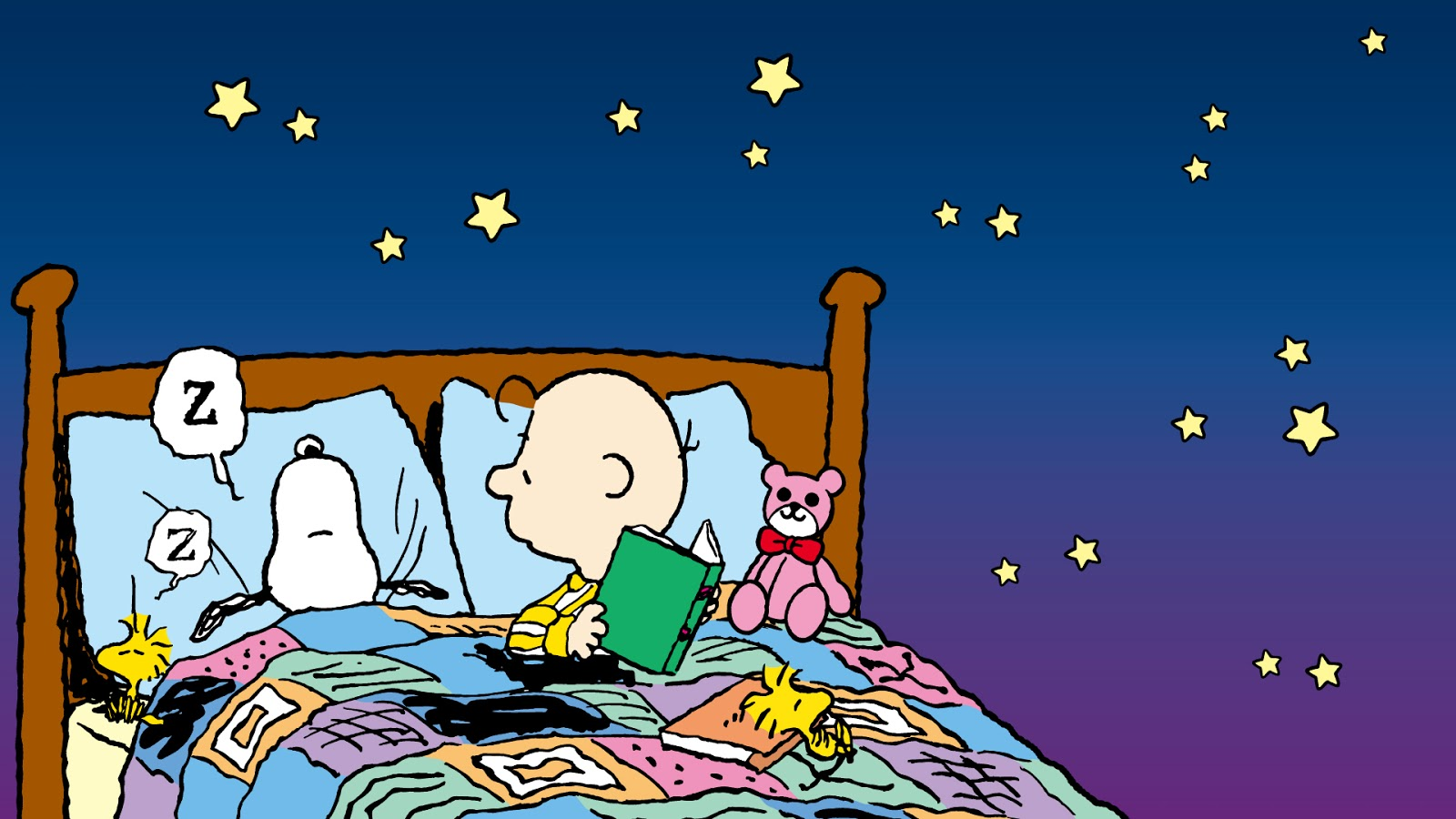 Snoopy duerme Charlie Brown lo contempla 1600x900