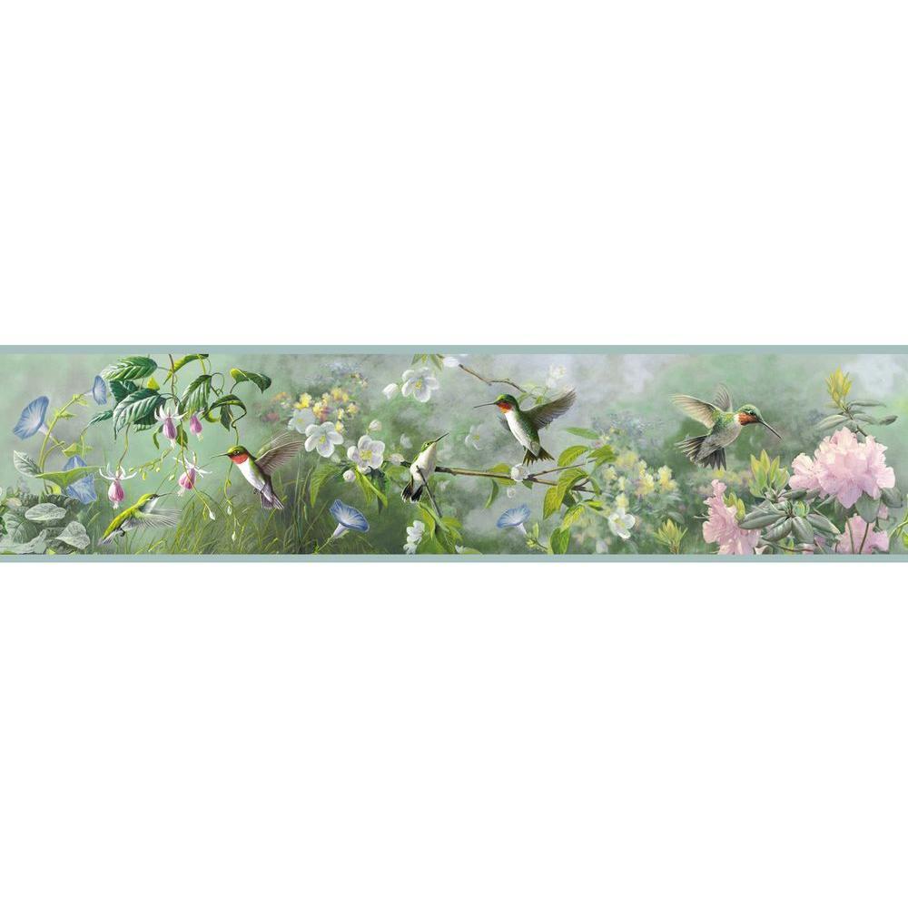 Chesapeake Weatherby Mint Ruby Wallpaper Border Sample 1000x1000