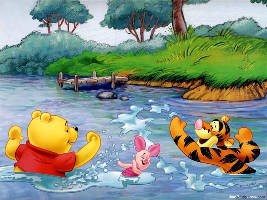 Winnie the Pooh Disney Desktop Wallpaper 1024x768