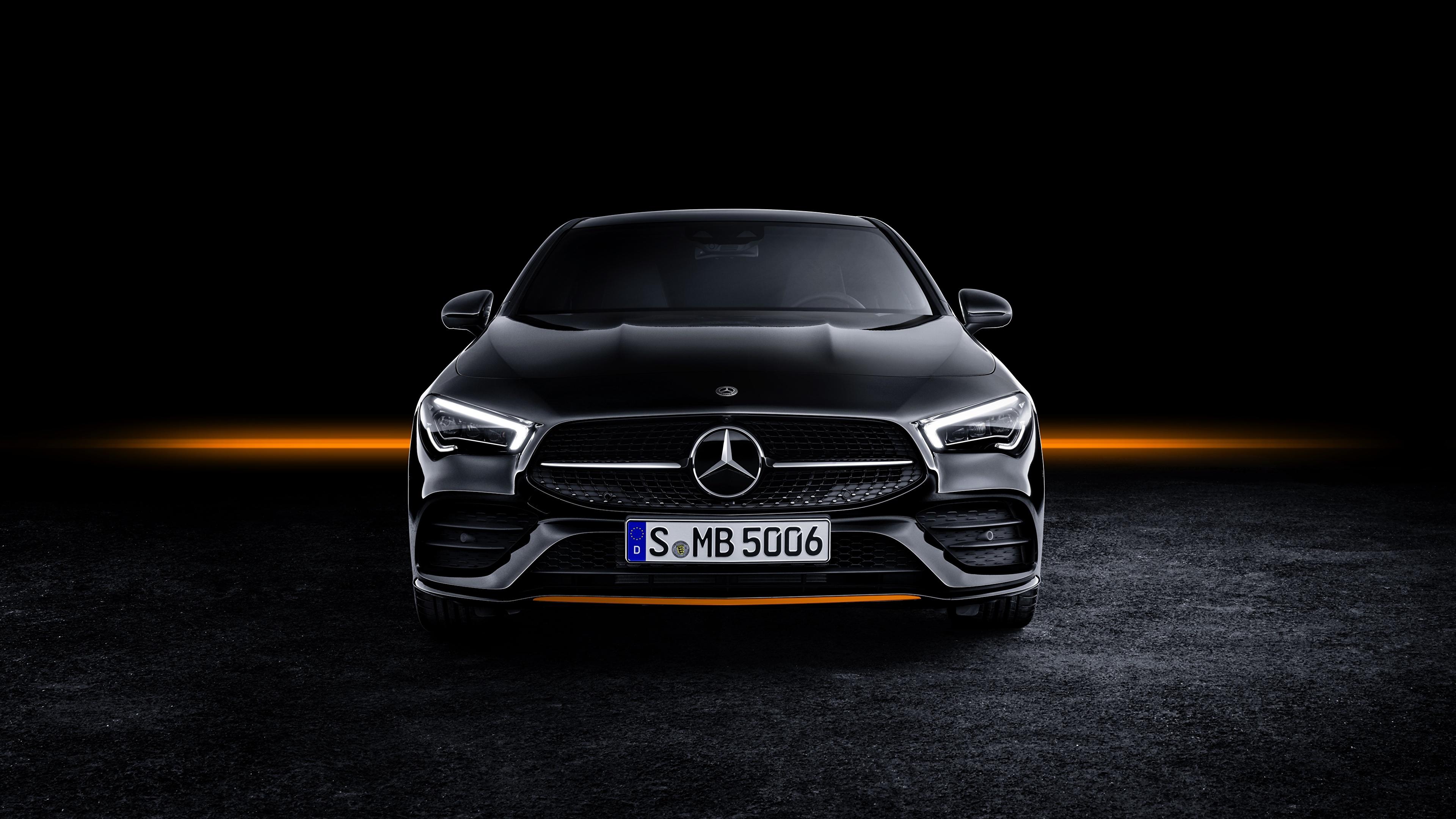 Wallpaper Mercedes Benz CLA AMG Line 2019 Edition Orange 3840x2160 3840x2160