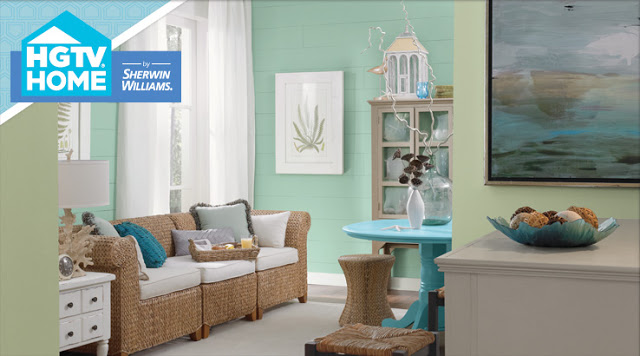 pumped to find out that HGTV has their own line of paint wallpaper 640x356