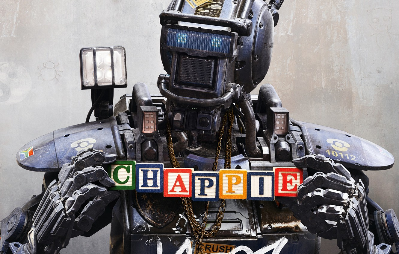 Wallpaper the film cubes robot Chappie The robot named Chappy 1332x850