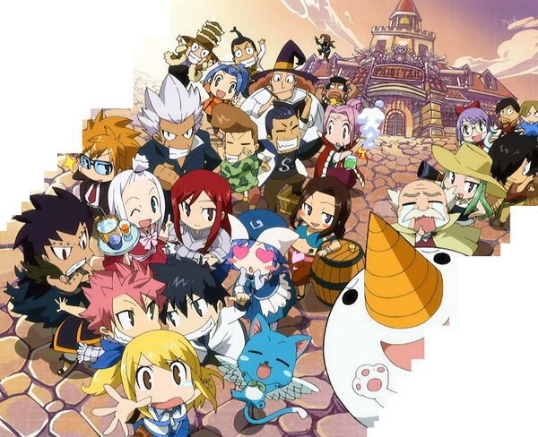 Chibi Fairy Tail by GoldenDragonSlayer 600x488