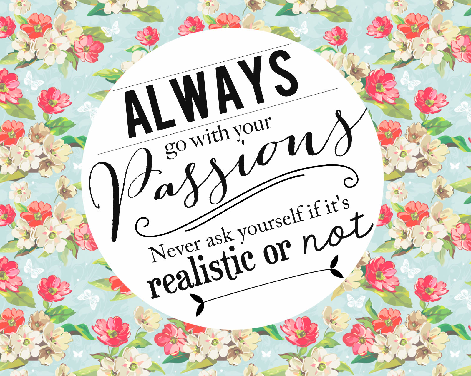 Free Download Rubbishlove Freebie Inspiring Floral Wallpaper Words