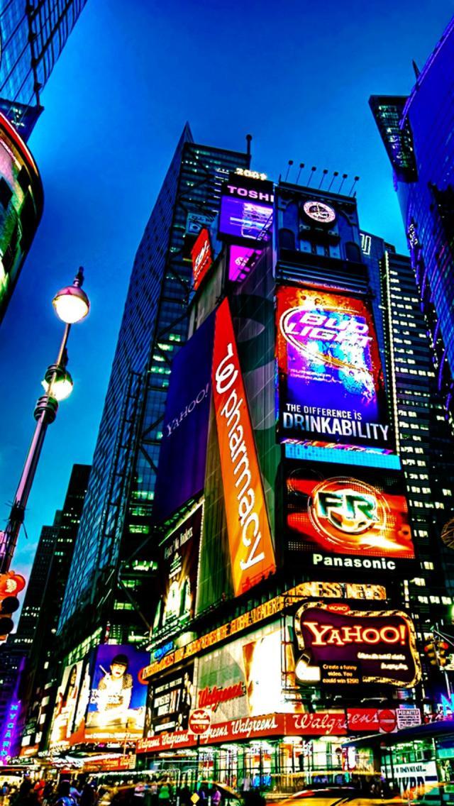 New york city iphone wallpaper wallpapersafari for Photo ecran times square
