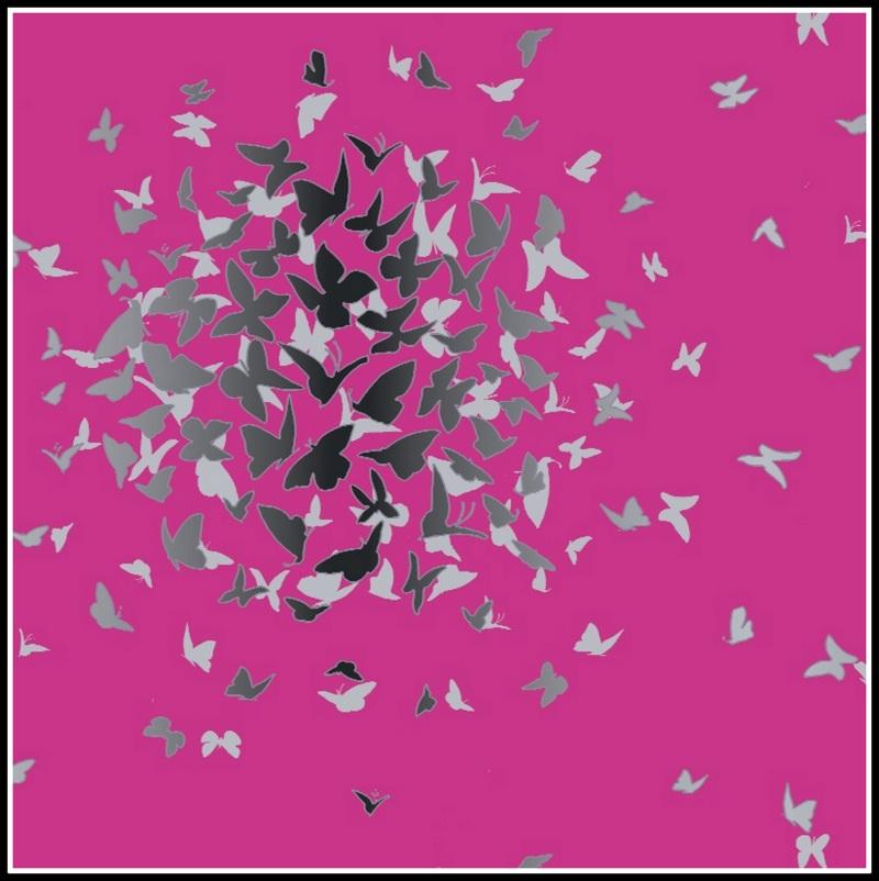 Wallpaper Wednesday Contemporary Butterflies   Love Chic Living 800x802