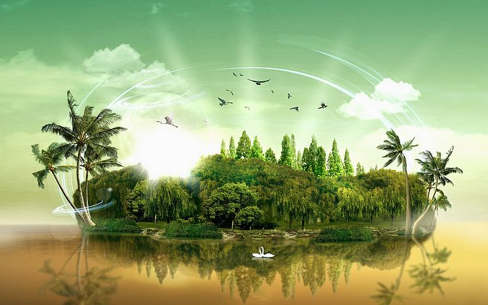 Wallpapers   Island Paradise Photo Manipulated Nature Wallpaper 7 700x438