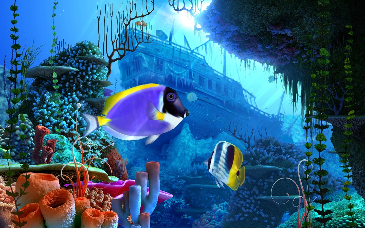 Coral Reef 3D Screensaver Software Full Version FREE Download   Most i 1440x900