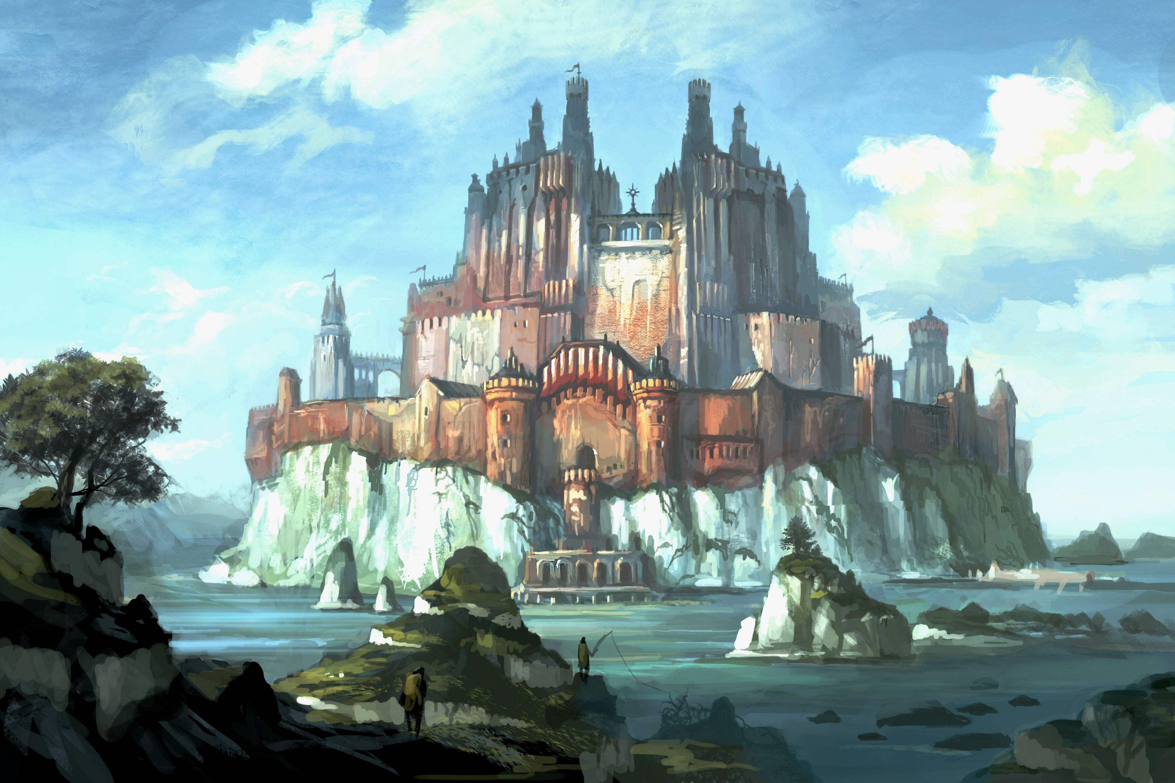 Wallpaper Abyss Explore the Collection Castles Fantasy Castle 242442 4000x2666