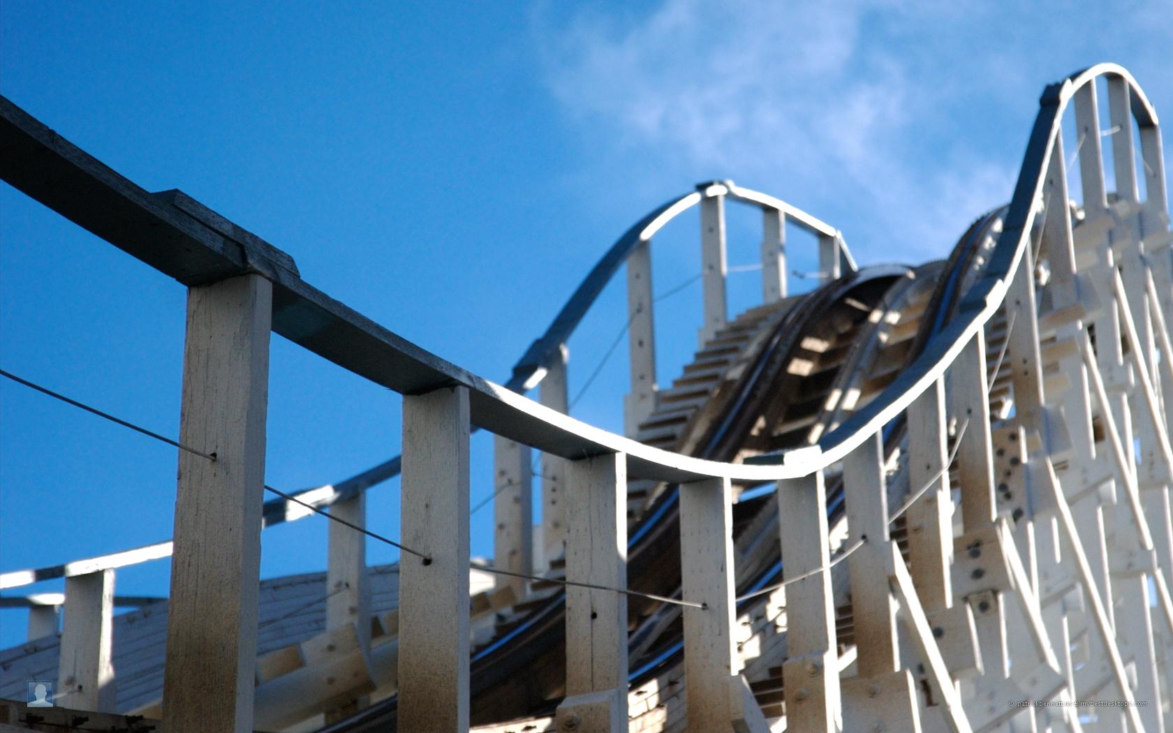 Wooden Roller Coaster Wooden rollercoaster 1680x1050