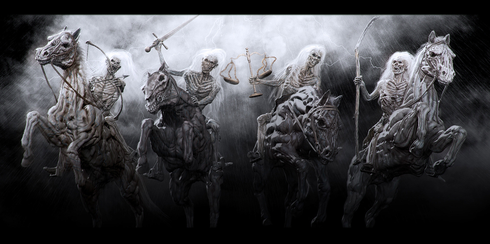 The Four Horsemen of the Apocalypse Wallpapers Hintergrnde 2000x999