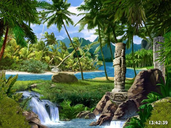 Mayan Waterfall 3D Screensaver Beach Wallpapers 600x450