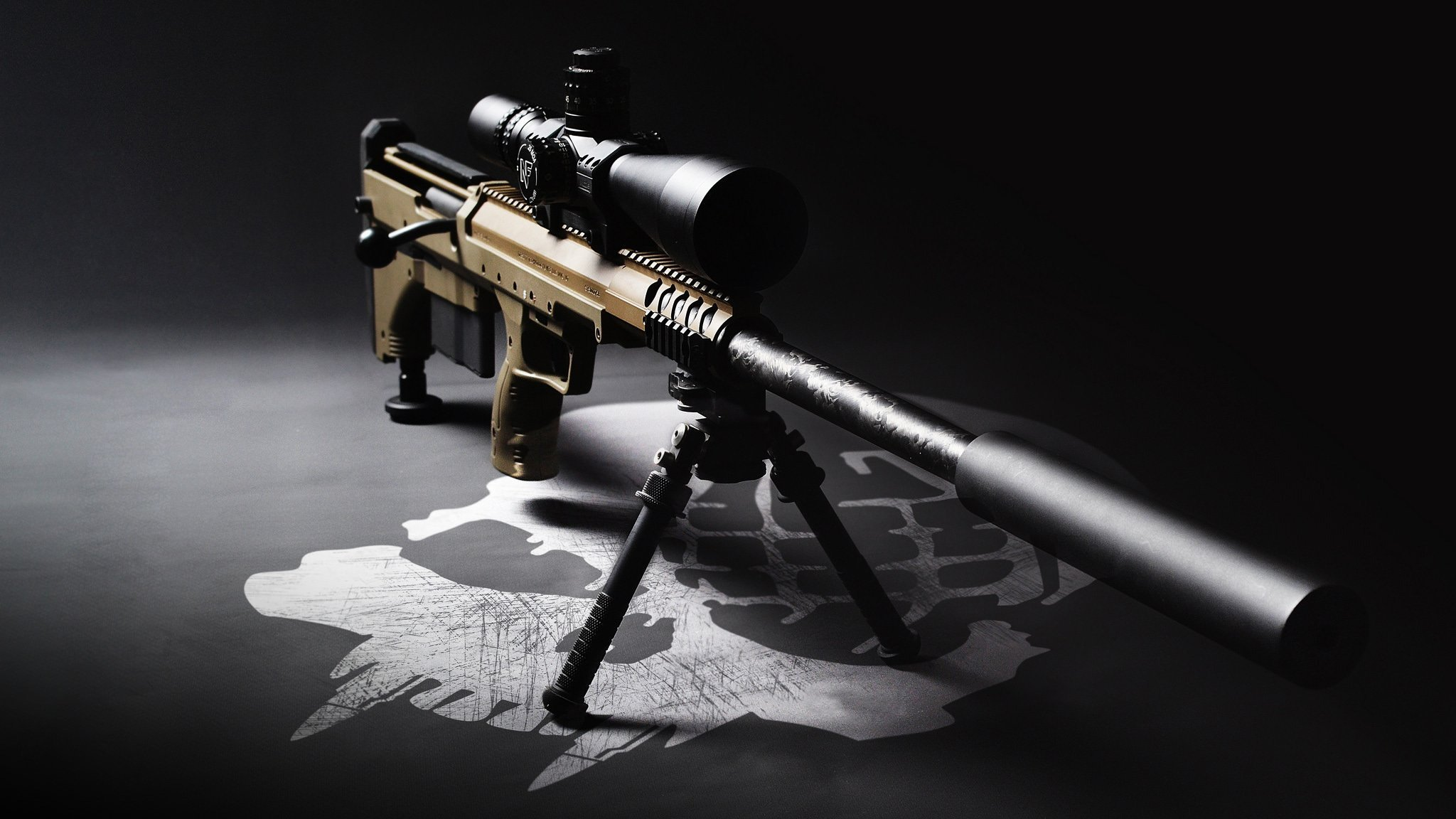 Gallery For gt Sniper Rifle With Silencer Wallpaper 2048x1152