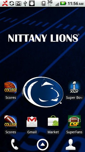 Officially licensed Penn State Nittany Lions Live Wallpaper with 288x512