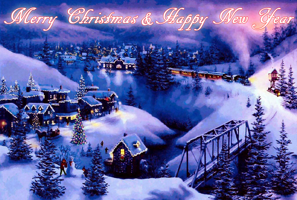 New Year 2014 Christmas 2013 Greeting Cards E Cards Wallpapers 1024x690