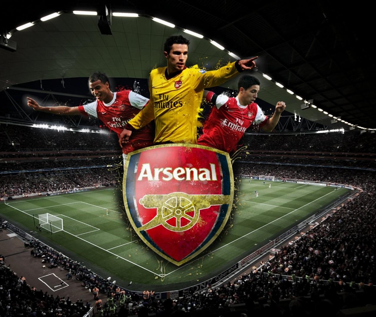 Arsenal Logo   Sport Wallcom 1280x1080
