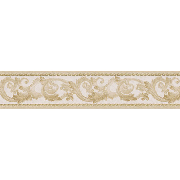 451 1648 Gold Scroll Rope   Brewster Wallpaper Borders 600x600