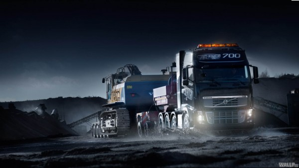 Volvo FH 16 at night   Truck wallpapers   Wallpeu 600x338