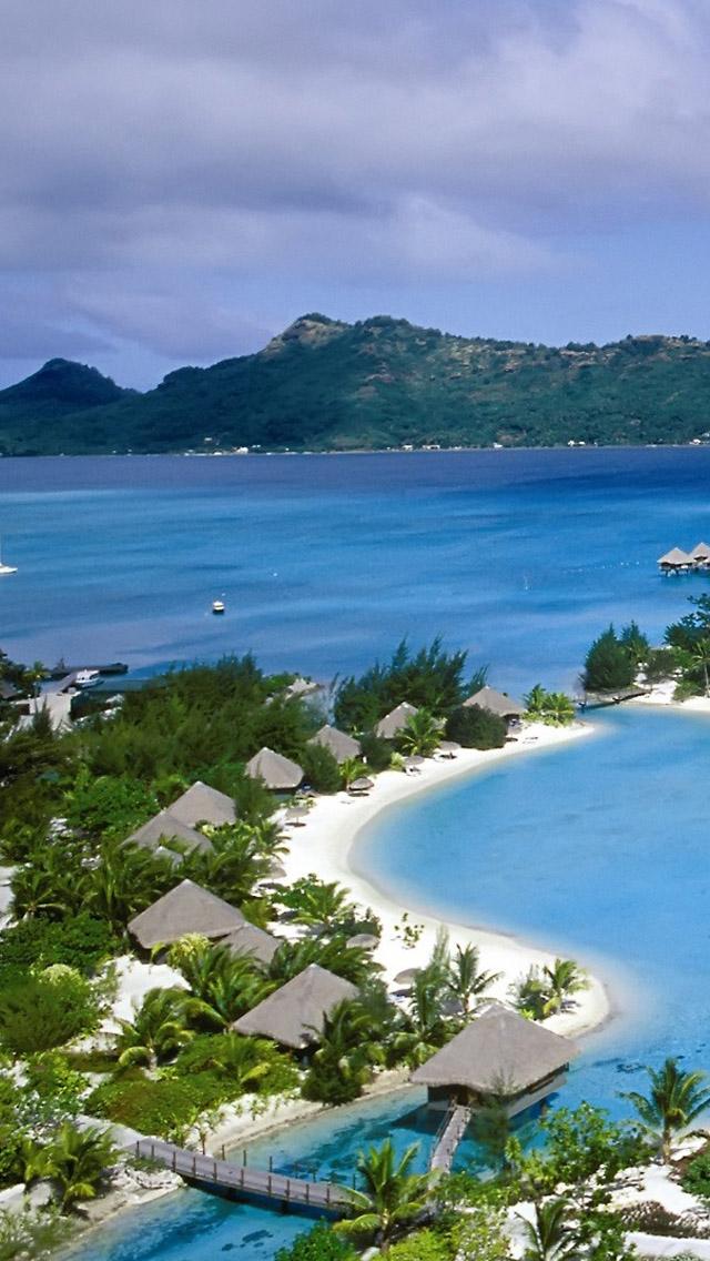 Polynesia Beach iPhone 5s Wallpaper Download | iPhone Wallpapers, iPad ...