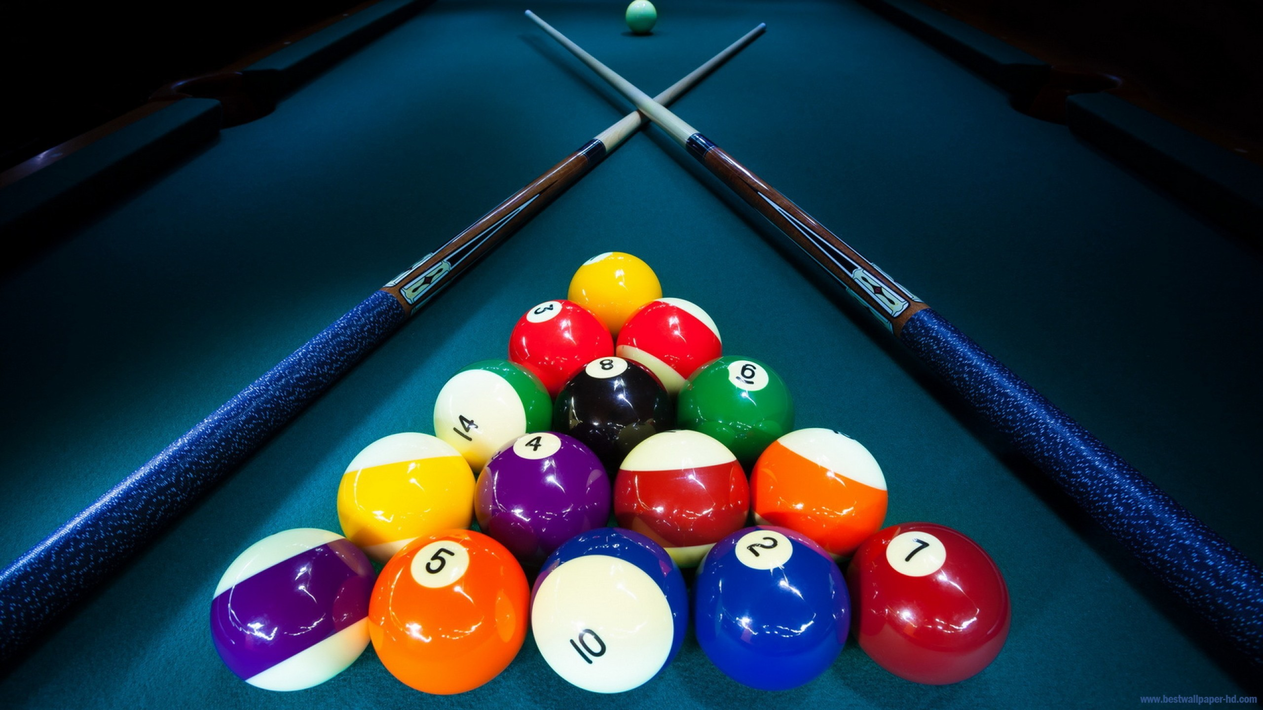 billiard balls wallpaper and background 2560x1440