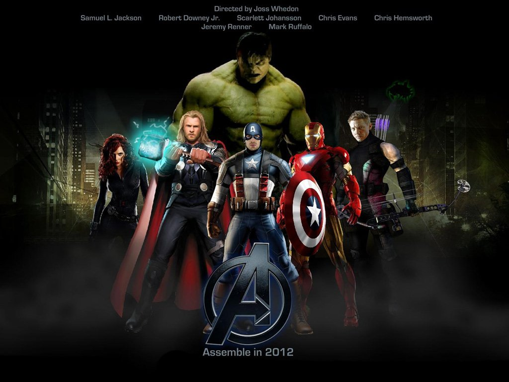 The Avengers Movie computer desktop wallpaper 1024x768