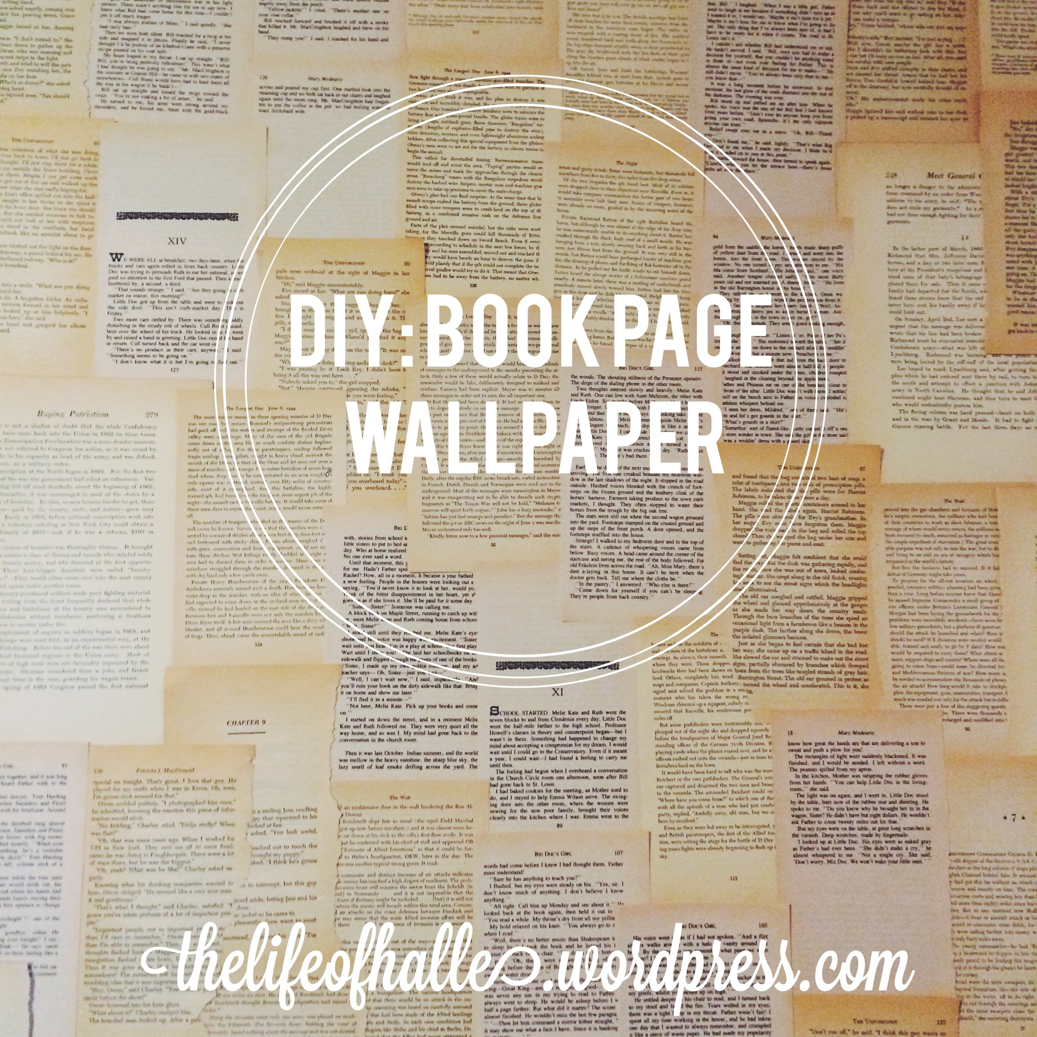 Page: [50+] DIY Book Page Wallpaper On WallpaperSafari