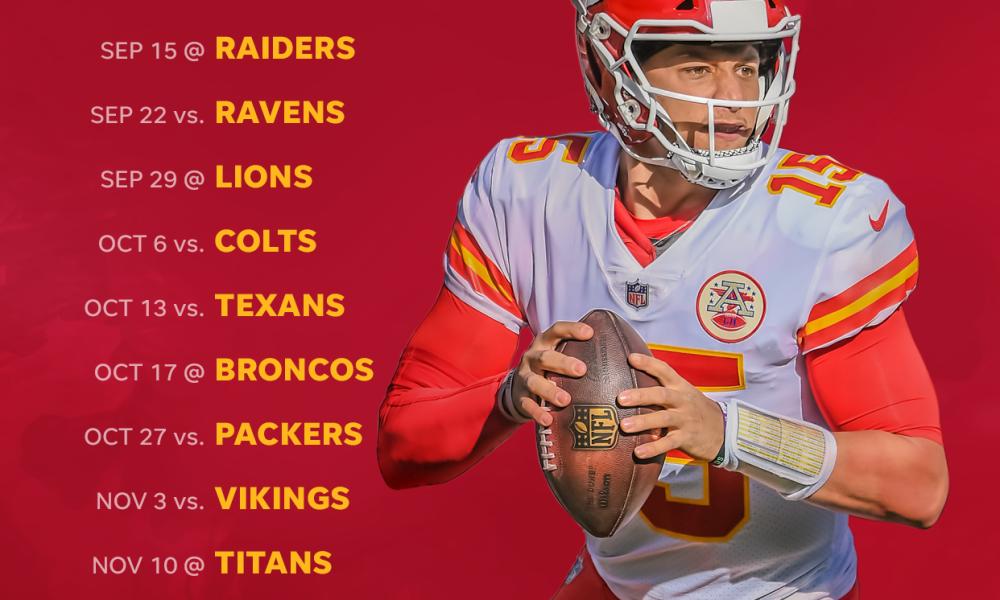 2019 Kansas City Chiefs Schedule Downloadable Wallpaper 1000x600