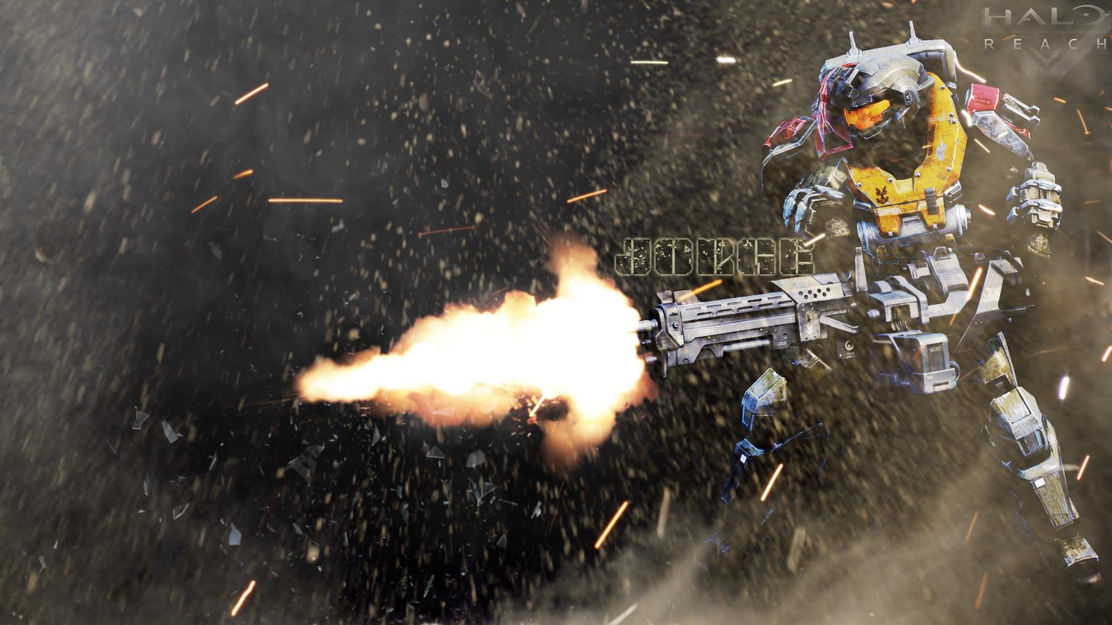 halo reach jorge wallpaper by vito adp fan art wallpaper games 2010 1600x900