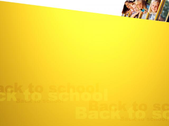 Kids in School Bus PPT Backgrounds Template for Presentation   PPT 640x480