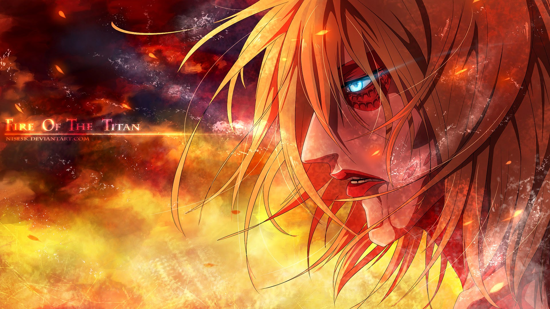 female titan annie leonhart attack on titan shingeki no kyojin 1920x1080