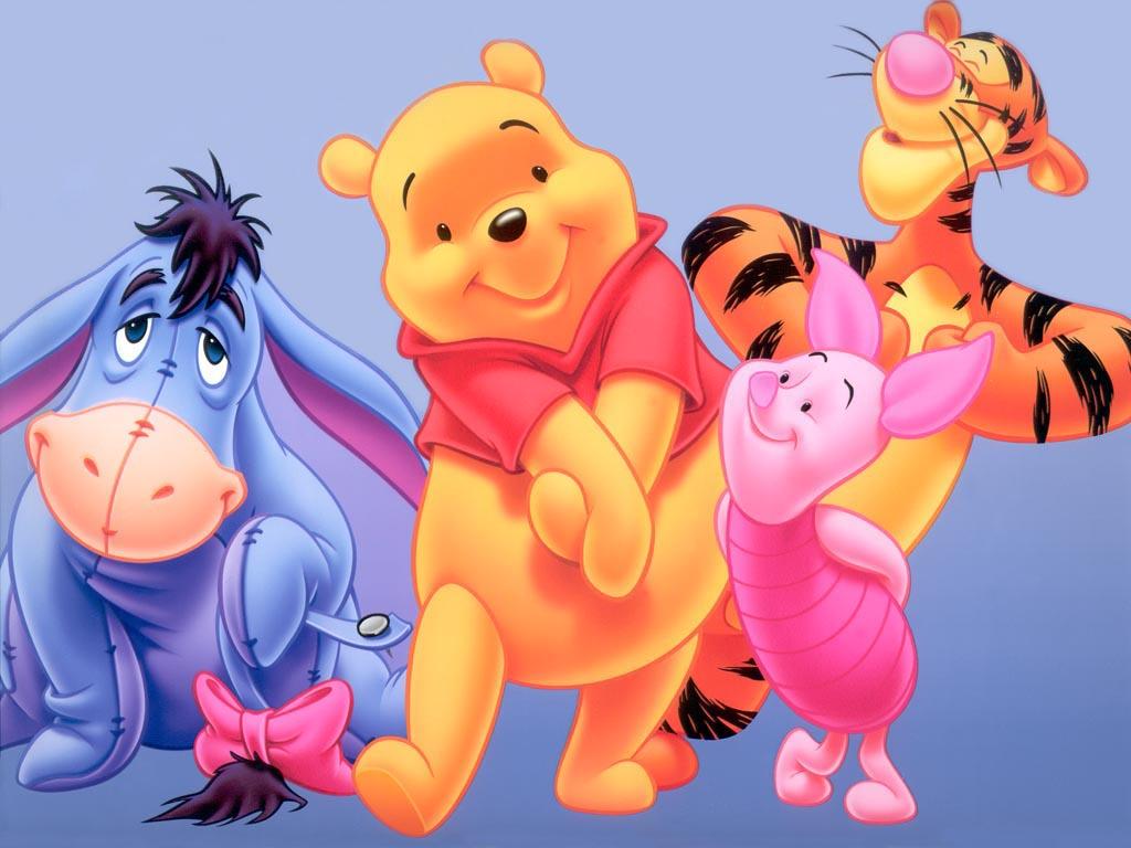 Walt Disney Winnie The Pooh Bear Characters Wallpaper 1024x768