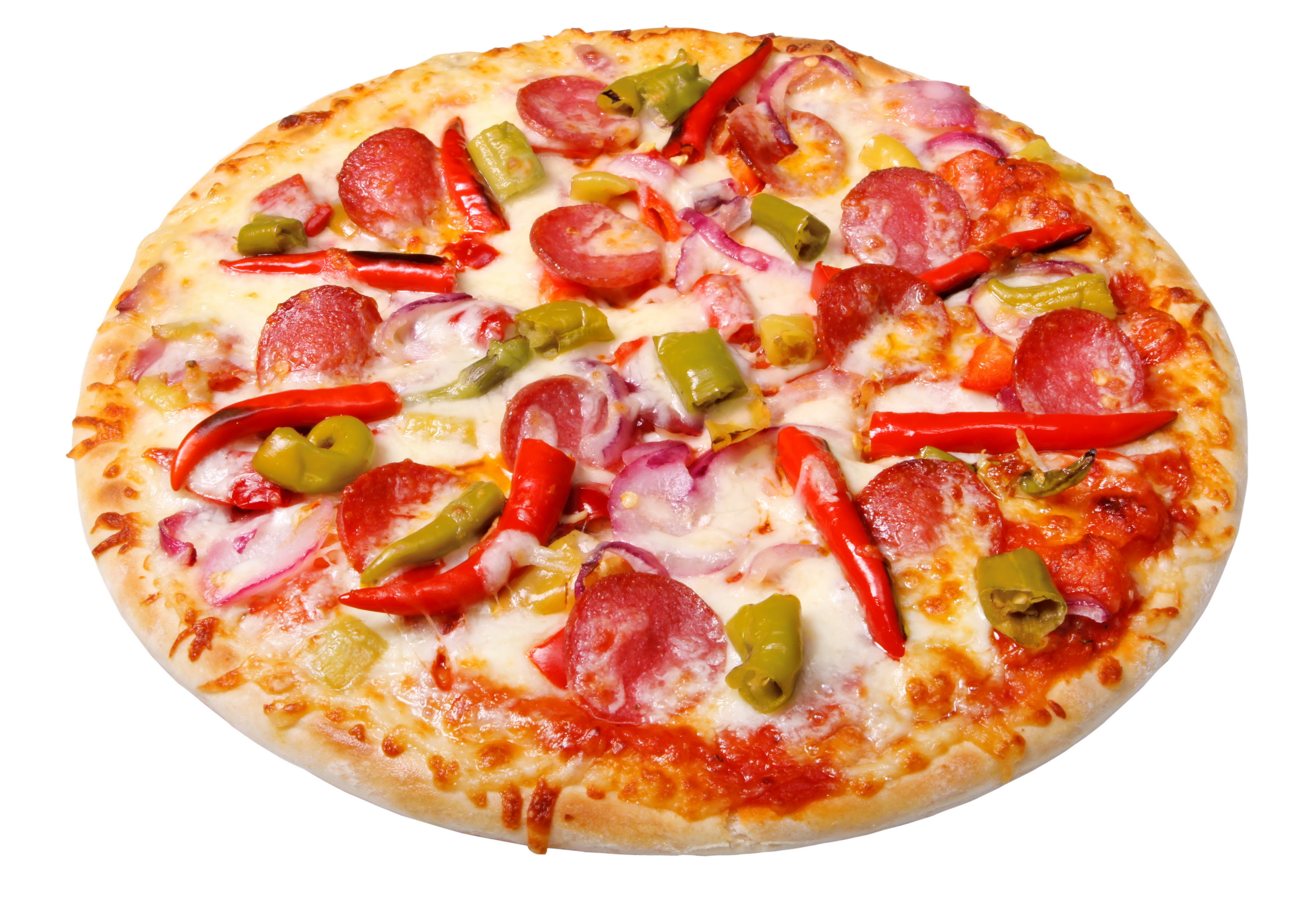Whole pepperoni and chili pizza HD wallpaper Wallpaper Flare 3900x2695