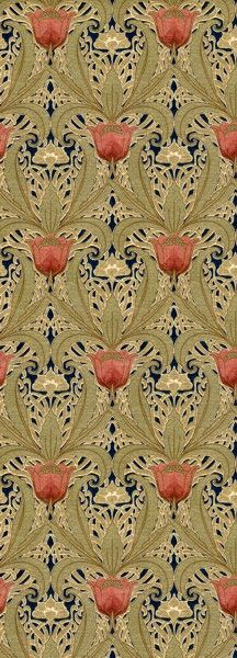 tulip garden historic wallpapers victorian arts victorial crafts 216x600