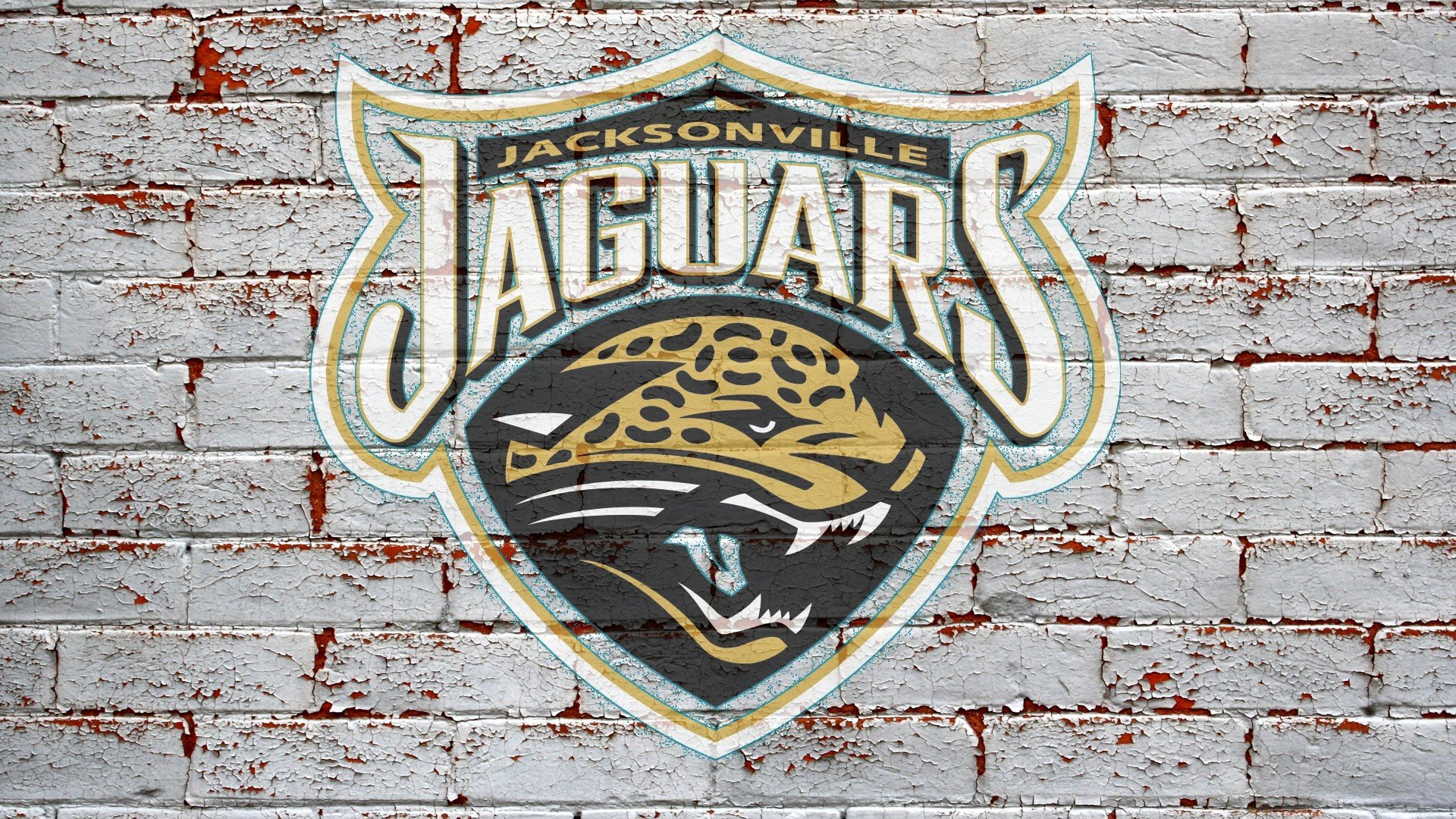 NFL Jacksonville Jaguars Logo On Grey Brick Wall 1920x1080 HD NFL 1920x1080