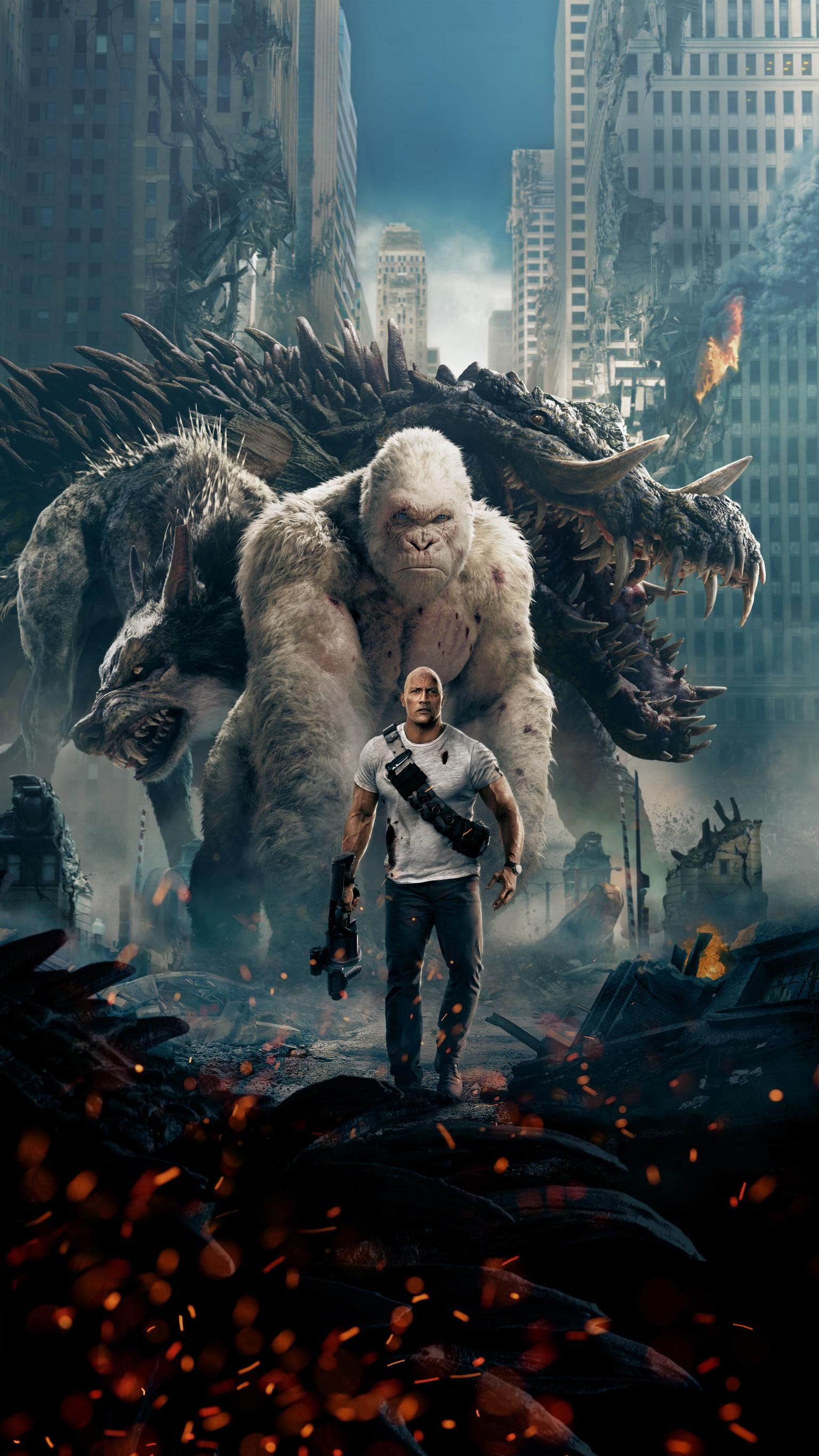 Rampage 2018 Phone Wallpaper Moviemania Full movies online 1536x2732