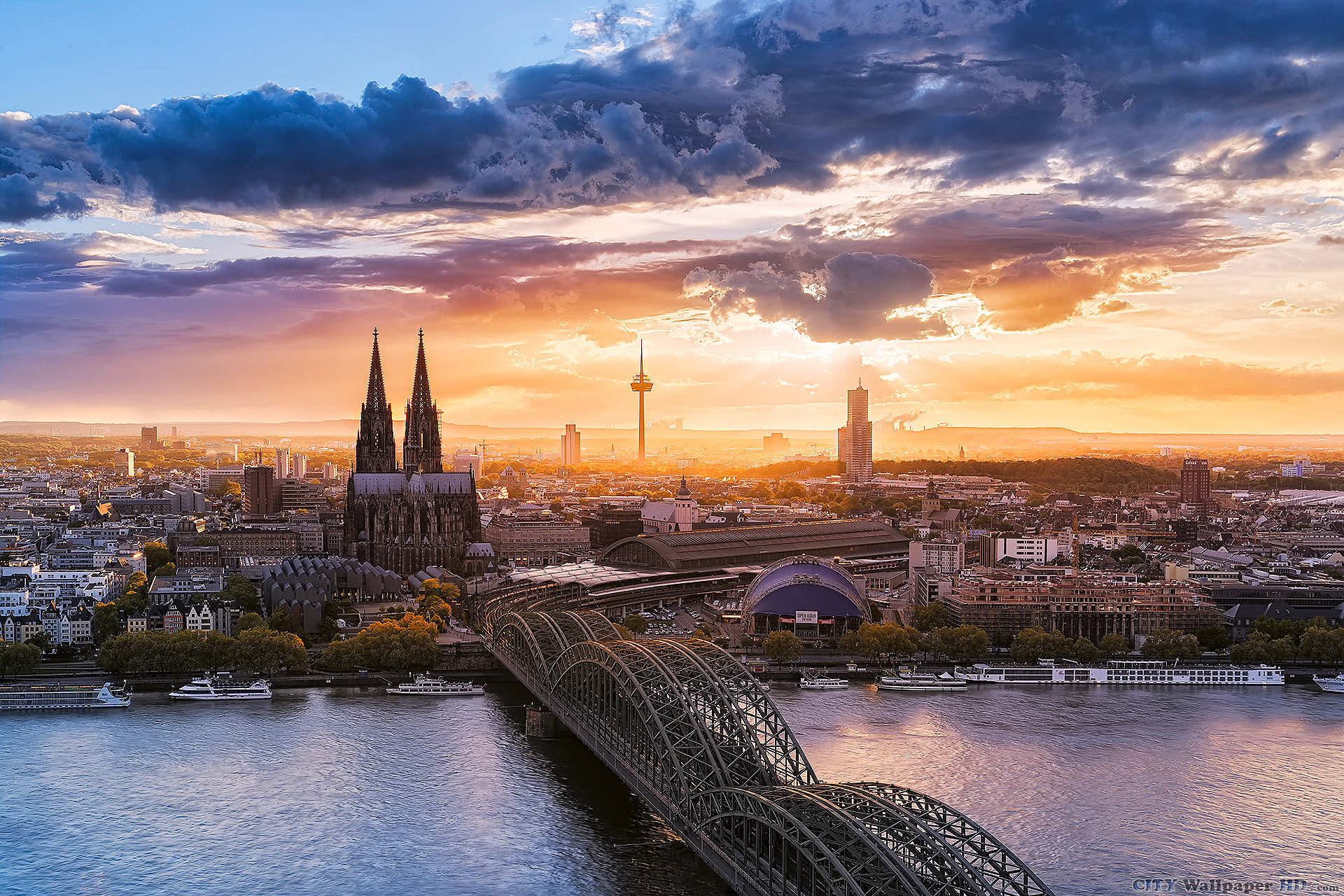Cologne wallpaper cityscapes PC Cologne Germany bridge 1920x1280