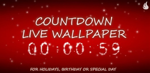 Countdown Live Wallpaper 2014 512x250