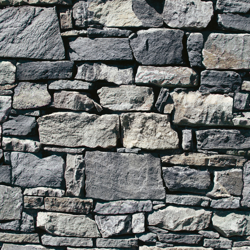 Muriva Dry Stone Wall 3D Effect Wallpaper in Grey   J49409 800x800