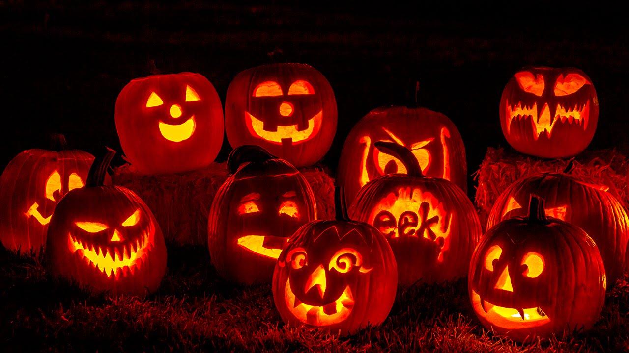 Halloween background ambiance Horror Nights Jack o lanterns 1280x720