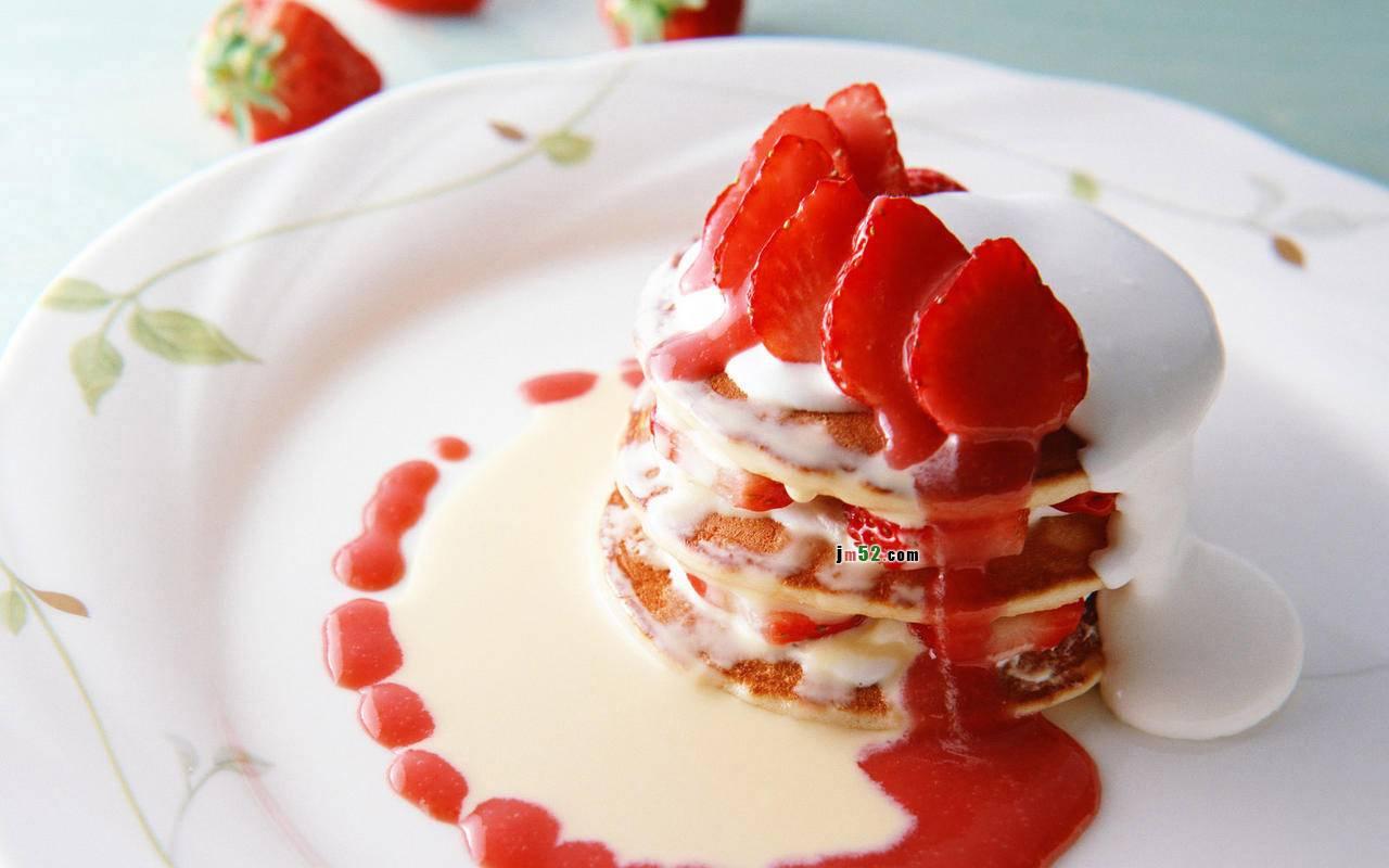 Strawberry Sundae   cooking Wallpaper 1280x800