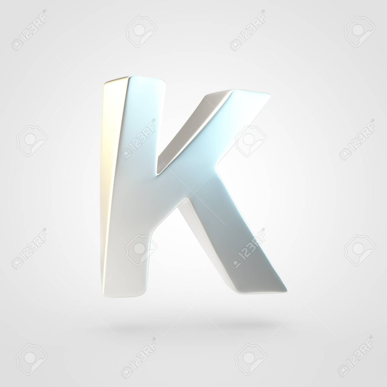Silver Letter K Uppercase 3D Rendering Of Matted Silver Font 1300x1300